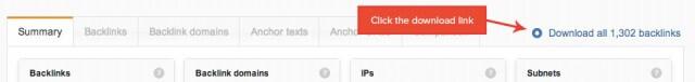 WebMeUp - Backlink Download