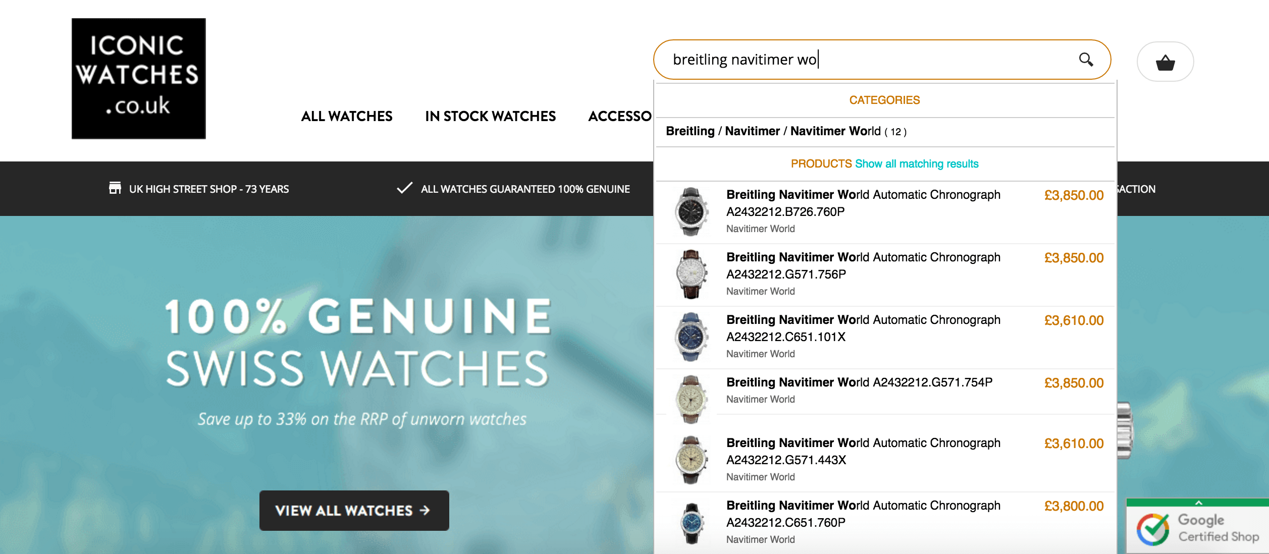 Iconic Watches Search